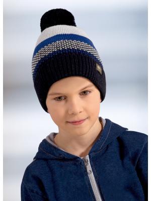 Шапка детская ESLI. Цвет: темно-синий, молочный