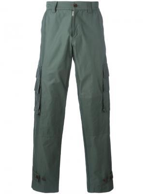 Брюки с боковыми карманами Undercover. Цвет: зелёный