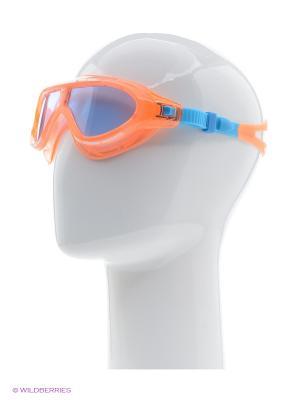 Очки для плавания Speedo. Цвет: оранжевый, голубой