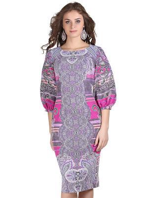 Платье OLIVEGREY. Цвет: сиреневый, серый