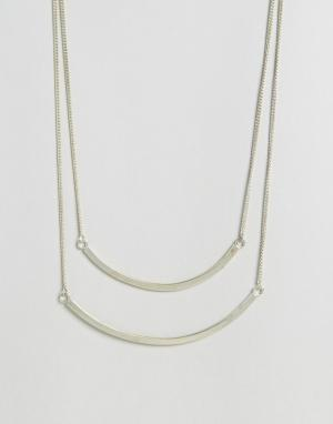 Made Двухъярусное ожерелье Curved. Цвет: золотой