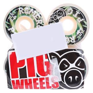 Колеса для скейтборда  Romero Leaves 101A 54 mm Pig. Цвет: белый