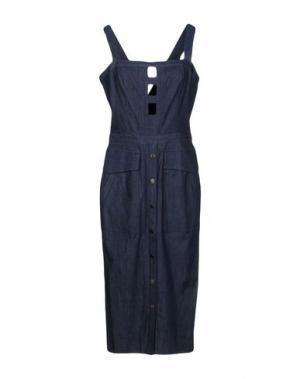 Платье до колена TAMARA MELLON. Цвет: синий