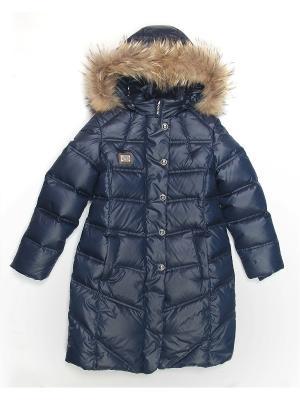 Стеганое пальто Cleverly. Цвет: серый, синий