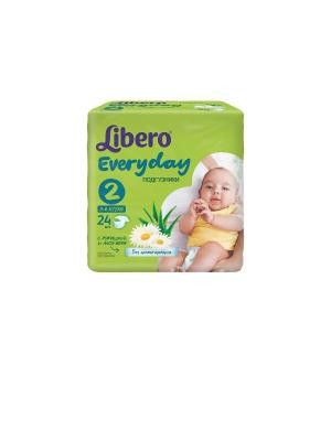 Libero Подгузники детские Every Day мини 3-6кг 24шт упаковка стандартная. Цвет: зеленый