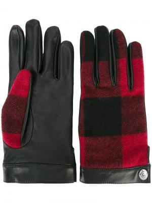 Перчатки в шотландскую клетку Dsquared2. Цвет: чёрный