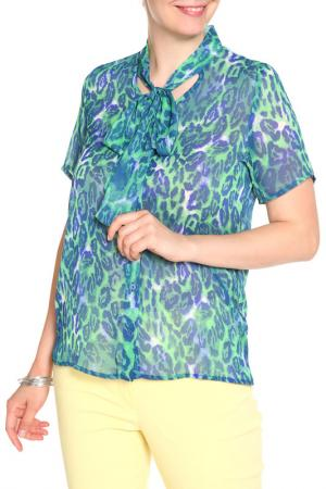 Блуза HELENA VERA. Цвет: зеленый