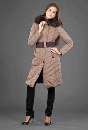 Коричневое пальто женское FLO-CLO. Цвет: коричневый