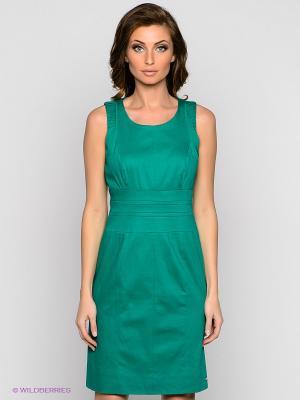 Платье VILA JOY. Цвет: зеленый