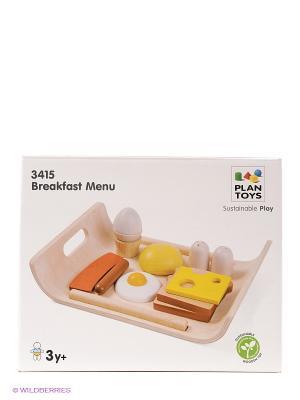 Набор Завтрак PLAN TOYS. Цвет: желтый