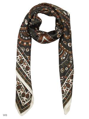 Платок Sisley. Цвет: черный, коричневый