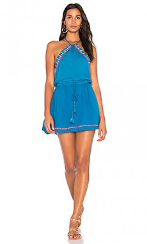 Платье darwin PIPER. Цвет: сине-зеленый