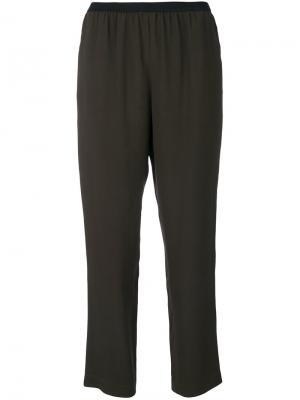 Классические укороченные брюки IM Isola Marras I'M. Цвет: зелёный