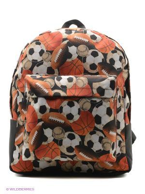 Рюкзак ANTAN. Цвет: черный, оранжевый