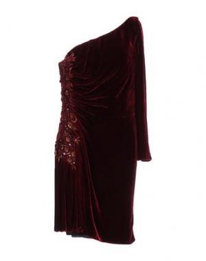Платье до колена IVAN MONTESI. Цвет: красно-коричневый