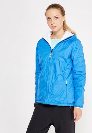 Куртка утепленная adidas. Цвет: голубой