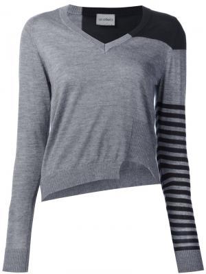 Striped asymmetric jumper Les Animaux. Цвет: серый