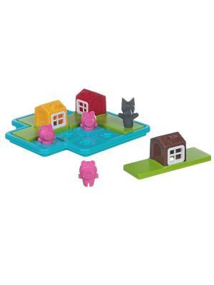 Логическая игра BONDIBON Три маленьких поросёнка, арт. SG 019 RU.. Цвет: голубой