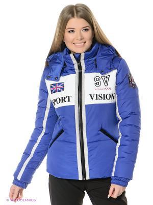 Куртка Sport Vision. Цвет: синий, белый