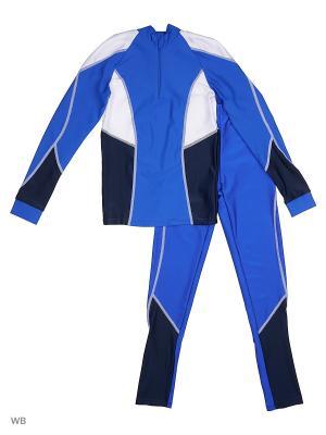 Костюм лыжника Chersa. Цвет: синий, белый, черный