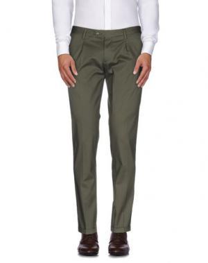 Повседневные брюки ROBERTO PEPE. Цвет: зеленый-милитари