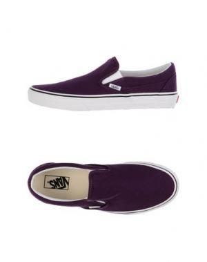 Низкие кеды и кроссовки VANS. Цвет: темно-фиолетовый