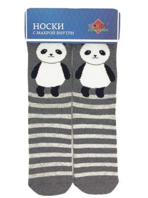 Носки HOBBY LINE. Цвет: серый, белый