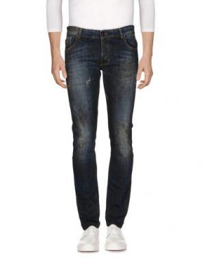 Джинсовые брюки MESSAGERIE. Цвет: синий