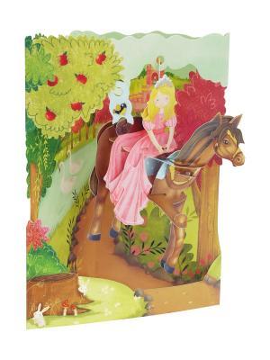Объемная открытка  Принцесса Даринчи. Цвет: зеленый