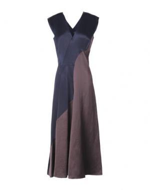 Платье длиной 3/4 ZERO + MARIA CORNEJO. Цвет: темно-синий