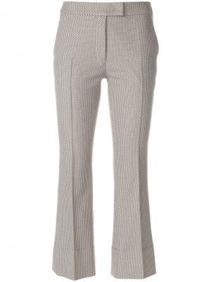 Укороченные классические брюки Akris Punto. Цвет: коричневый