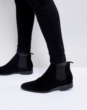 New Look Черные ботинки челси из искусственной замши. Цвет: черный