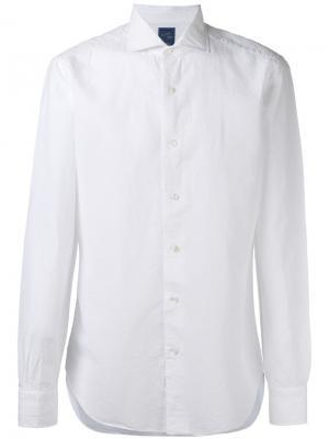 Классическая рубашка Barba. Цвет: белый