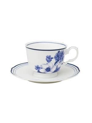 Набор из 2-х чашек с блюдцами Copenhagen MollyMarais. Цвет: темно-синий, белый
