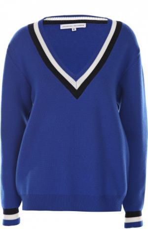 Вязаный пуловер Jonathan Saunders. Цвет: темно-синий