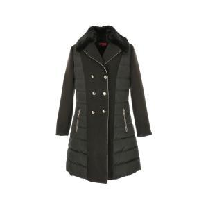 Пальто длинное из двух материалов REPONSE от DERHY RENE. Цвет: черный