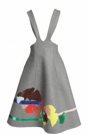 Платье Delpozo. Цвет: серый
