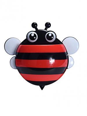 Держатель для зубных щеток и паст Пчёлка RUGES. Цвет: черный, красный