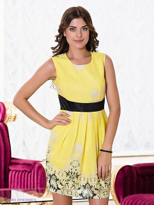 Платье Verezo. Цвет: желтый, черный