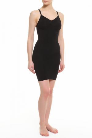 Утягивающее платье Julie France. Цвет: черный