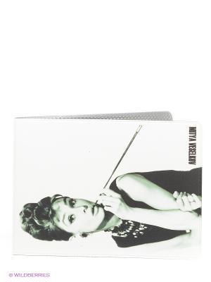 Обложка для студенческого Одри курит Mitya Veselkov. Цвет: белый