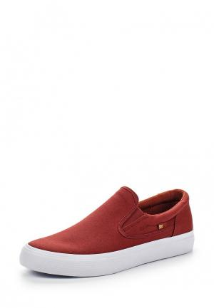 Слипоны DC Shoes. Цвет: красный