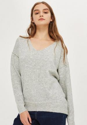 Пуловер Topshop. Цвет: серый