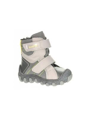 Ботинки Bartek. Цвет: серый, светло-серый