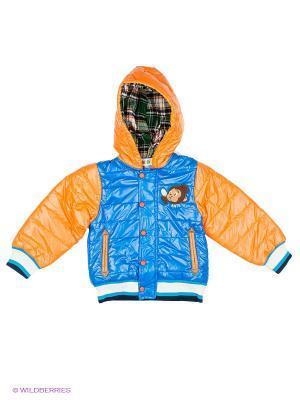 Куртка Kidly. Цвет: голубой, оранжевый