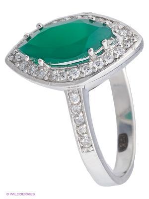 Кольцо BALEX. Цвет: зеленый, серебристый