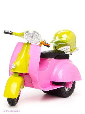 Скутер для куклы OG Dolls. Цвет: розовый, желтый