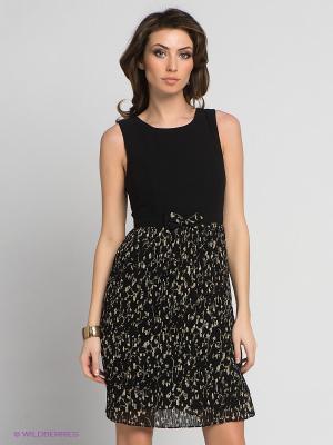 Платье Fever. Цвет: черный, бежевый