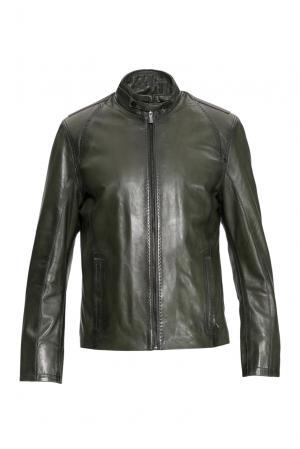 Кожаная куртка 154880 Mondial. Цвет: зеленый