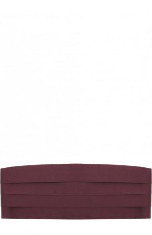 Шелковый камербанд Ermenegildo Zegna. Цвет: бордовый